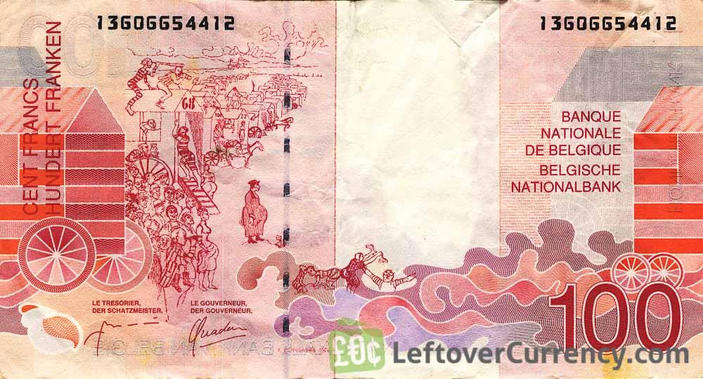 100 Belgian Francs banknote (James Ensor)