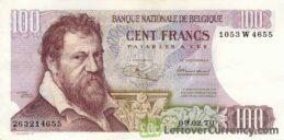 100 Belgian Francs banknote (Lambert Lombard)