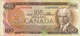 100 Canadian Dollars banknote (Lunenburg Scenes of Canada)