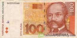 100 Croatian Kuna banknote series 1993