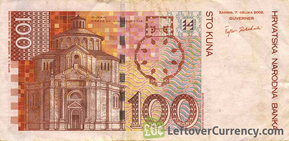 100 Croatian Kuna banknote series 2002