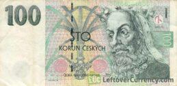100 Czech Koruna banknote series 1997