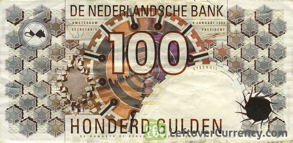 100 Dutch Guilders banknote (Steenuil 1992)