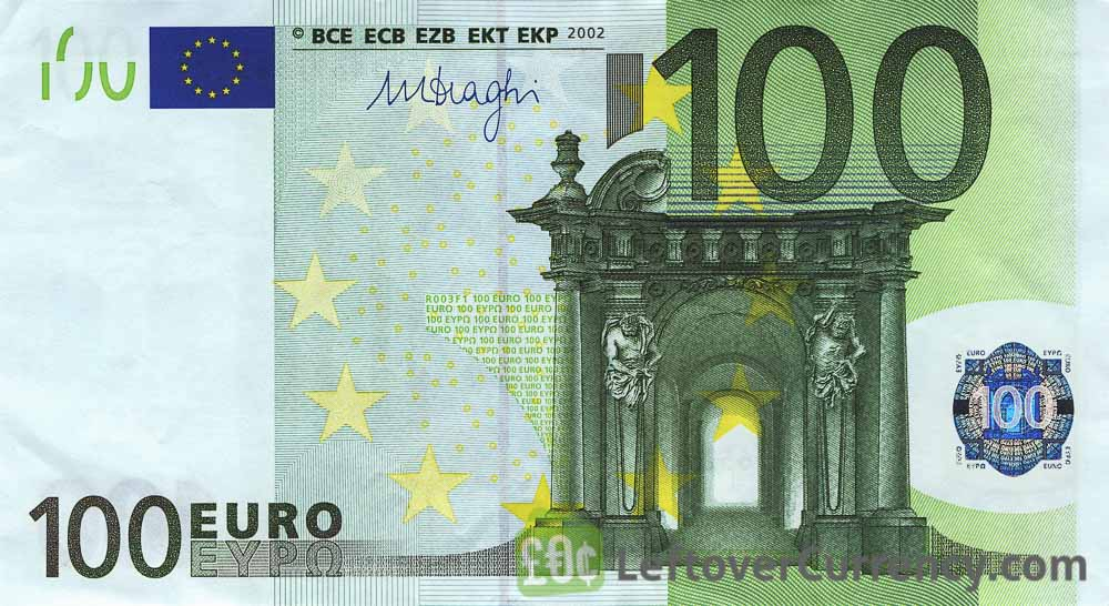 100 euros banknote first series exchange yours for cash today. Black Bedroom Furniture Sets. Home Design Ideas