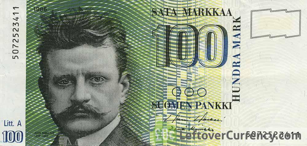 100 Finnish Markkaa banknote (Jean Sibelius)