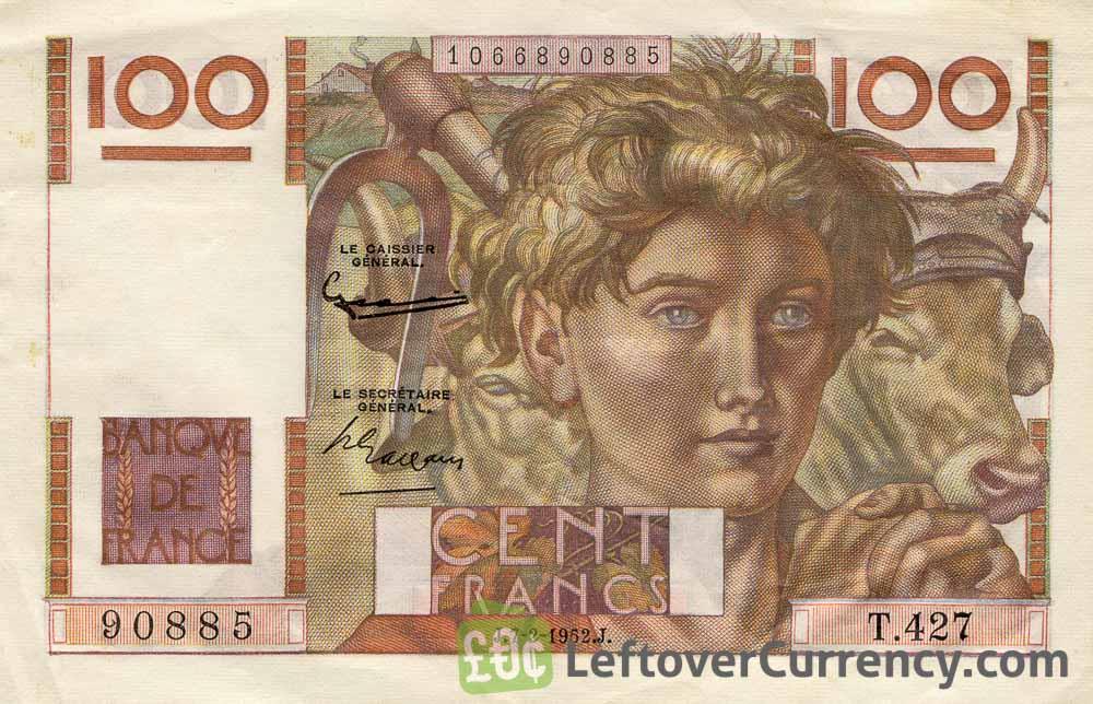 100 French Francs banknote (Jeune paysan)