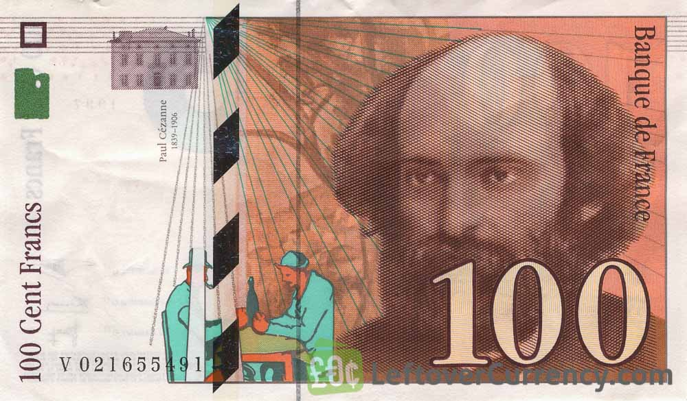 100 French Francs banknote (Paul Cezanne)