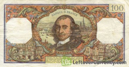 100 French Francs banknote (Pierre Corneille)