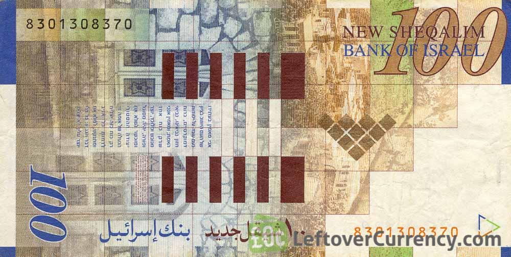 100 Israeli New Sheqalim banknote (Itzhak Ben-Zvi)