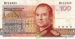 100 Luxembourgish Francs banknote