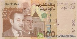 100 Moroccan Dirhams banknote (2002 issue)