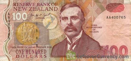 100 New Zealand Dollars banknote series 1992
