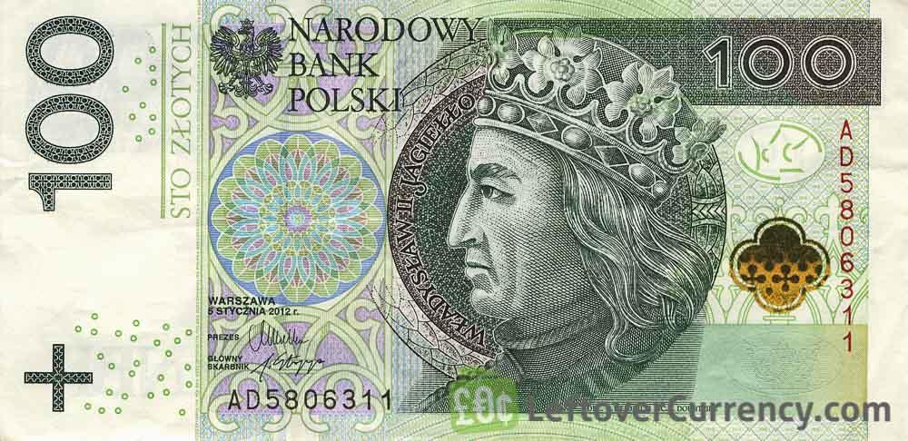 100 Polish Zloty banknote (Wladyslaw II Jagiello)