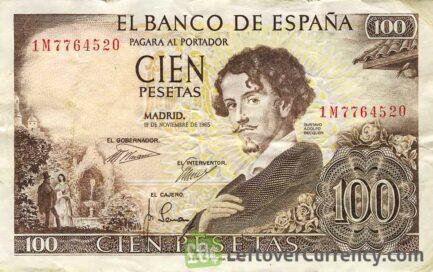 100 Spanish Pesetas banknote (Gustavo Adolfo Becquer)