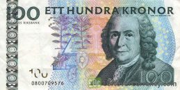 100 Swedish Kronor banknote (Carl von Linne)