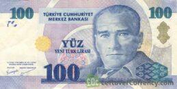 100 Turkish Lira banknote (8th emission group 2005)