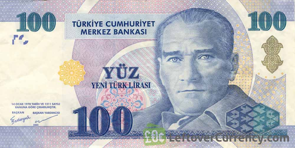 100 Turkish Lira banknote (8th emission group 2005)