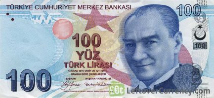 100 Turkish Lira banknote (9th emission group 2009)