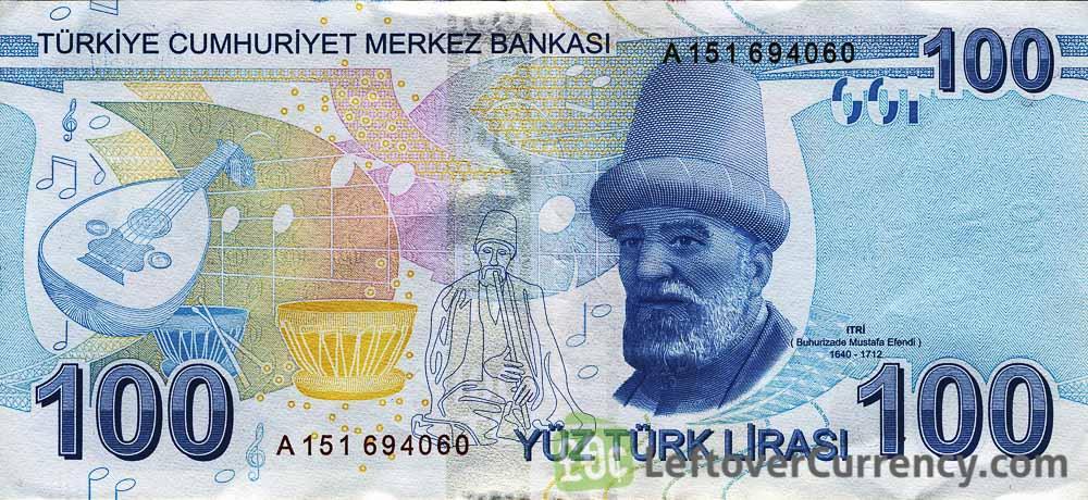 100 Turkish Lira banknote (9th emission group 2009)