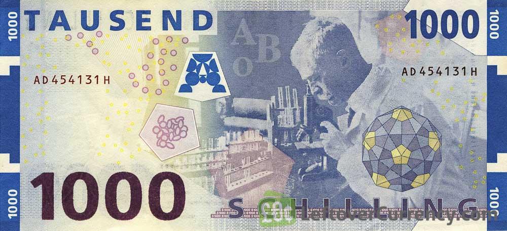 1000 Austrian Schilling banknote (Karl Landsteiner)