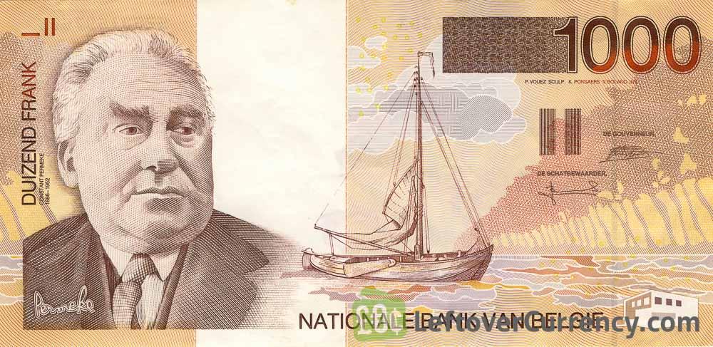 1000 Belgian Francs banknote (Constant Permeke)