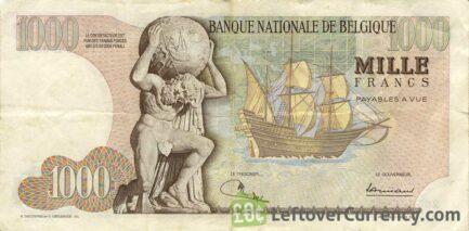 1000 Belgian Francs banknote (Mercator)