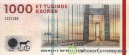1000 Danish Kroner banknote (Bridges of Denmark series)