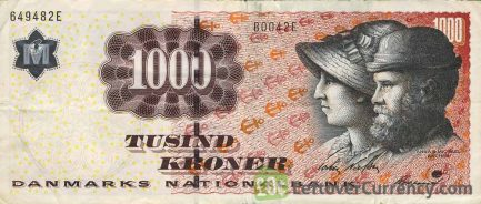 1000 Danish Kroner banknote (Michael Ancher)