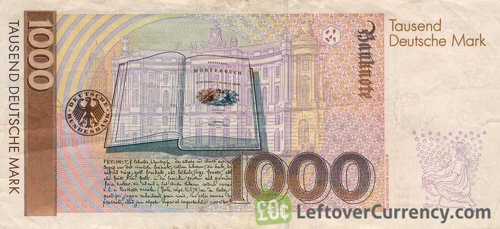 1000 Deutsche Marks banknote (Brothers Grimm)