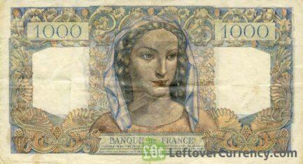 1000 French Francs banknote (Minerva et Hercules)