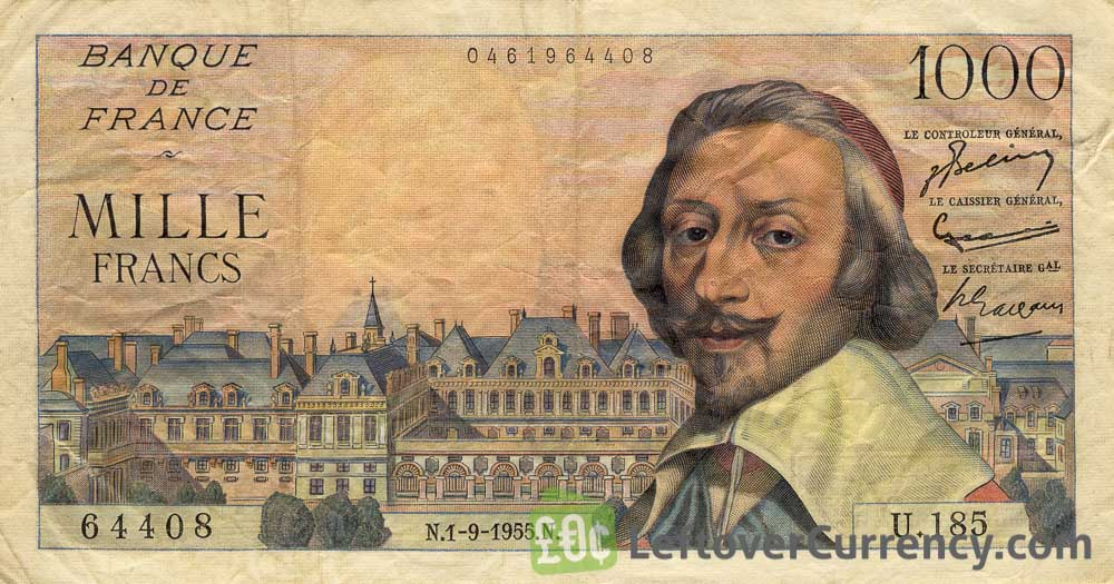 1000 French Francs banknote (Richelieu)
