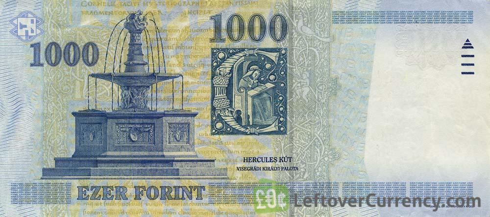1000 Hungarian Forints banknote (King Matyas type MNB)