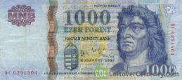 1000 Hungarian Forints banknote (King Matyas)
