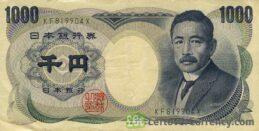 1000 Japanese Yen banknote (Soseki Natsume)