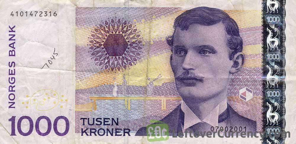 1000 Norwegian Kroner banknote (Edvard Munch)