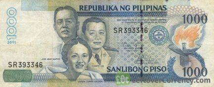1000 Philippine Peso banknote (Santos Escoda Lim)
