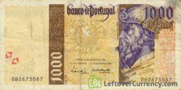 1000 Portuguese Escudos banknote (Pedro Alvares Cabral)