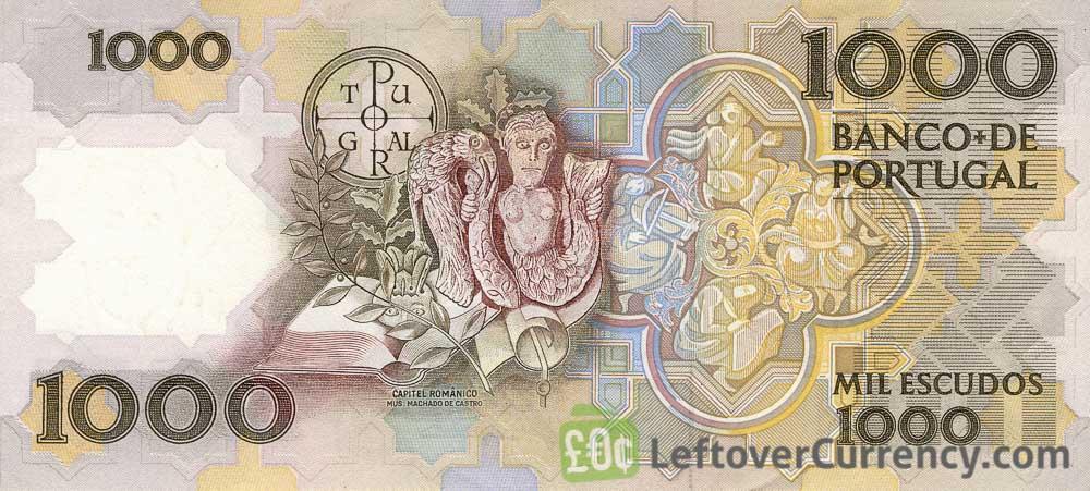 1000 Portuguese Escudos banknote (Teofilo Braga)