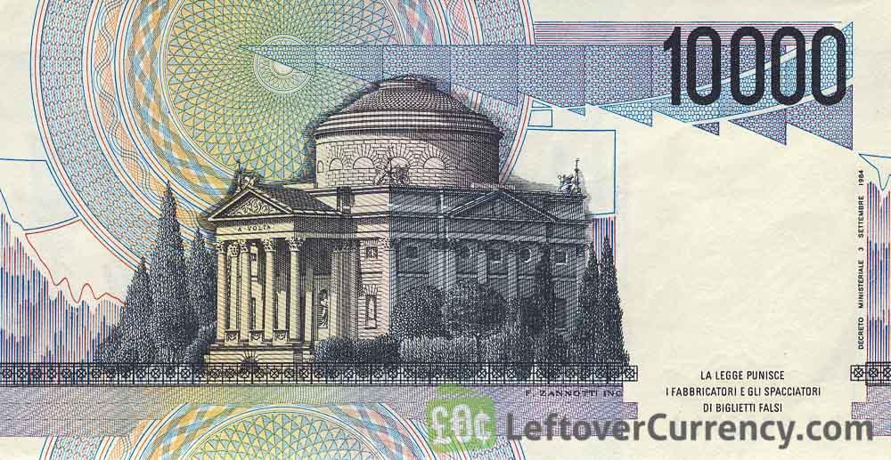 10000 Italian Lire banknote (Alessandro Volta)