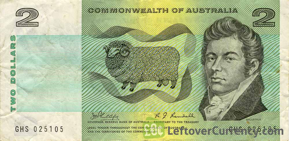 2 Australian Dollars banknote (Commonwealth of Australia)