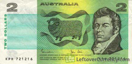 2 Australian Dollars banknote