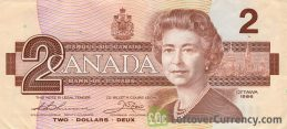 2 Canadian Dollars banknote (Queen Elizabeth II Birds of Canada)