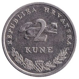 2 Croatian Kuna coin