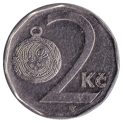 2 Czech Koruna coin