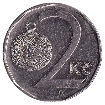 2 Czech Koruna coin