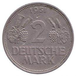 2 Deutsche Marks coin (type 1951)