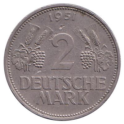 2 Deutsche Marks coin (type 1951)