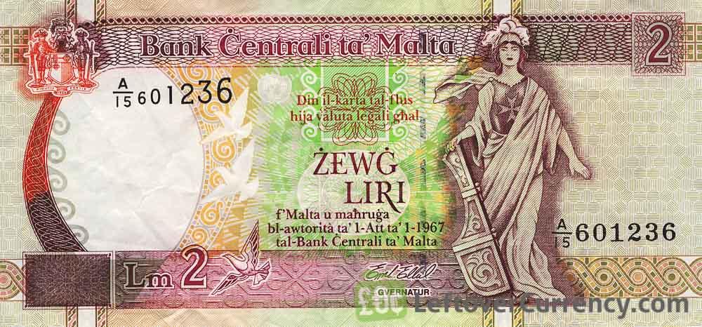 2 Maltese Lira banknote