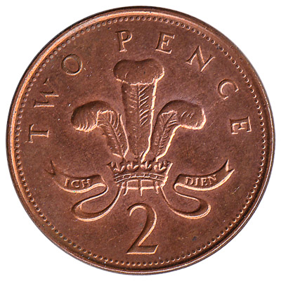 2 Pence coin Great Britain