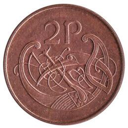 2 Pence coin Ireland